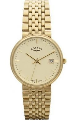 Rotary Watch Elite Gents 9ct Gold Case Watch