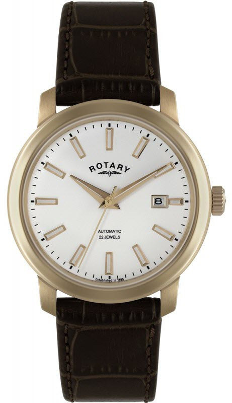 Rotary Watch Gents Rose Gold