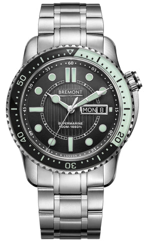 Bremont Watch Supermarine 500 Black Green Bracelet