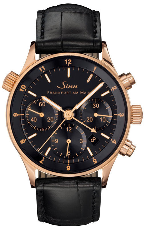 Sinn Watch 6000 Finance Center Rose Gold Leather