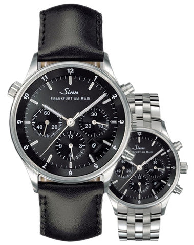 Sinn Watch 6030 Finance Center Bracelet-Leather D