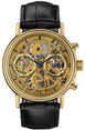 Sinn Watch 2300 Skeletal Gold Chronograph Alligator Limited Edition 2300.010 LEATHER