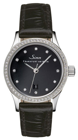 Sinn Watch 456 TW70 WG Ladies Diamond Alligator
