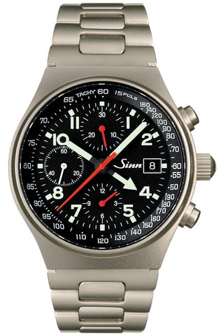 Sinn World Time Chronograph 144 GMT Ti Titanium D