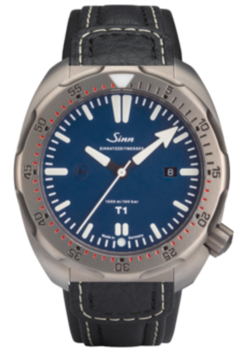 Sinn Watch T1 B EZM 14 Leather Strap
