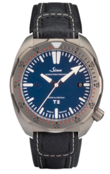 Sinn Watch T2 B EZM 15 Leather Strap