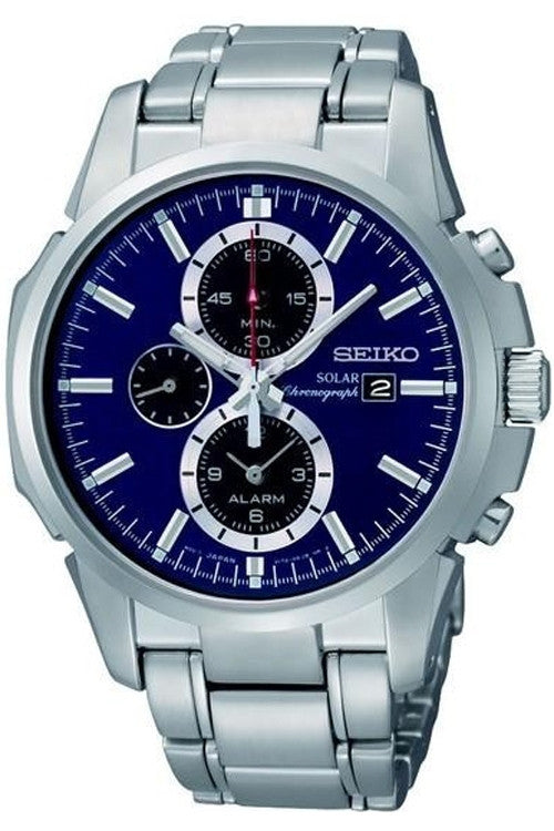 Seiko Watch Chronograph Alarm Solar
