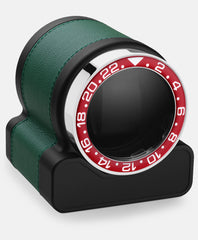 Scatola del Tempo Watch Winder Rotor One Green Red Bezel