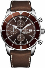 Breitling Watch Superocean Heritage II Chronographe Copperhead Bronze Rubber Leather Pushbutton