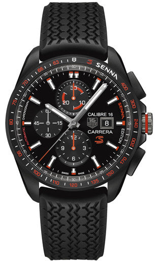 TAG Heuer Watch Carrera Calibre 16 Senna Special Edition