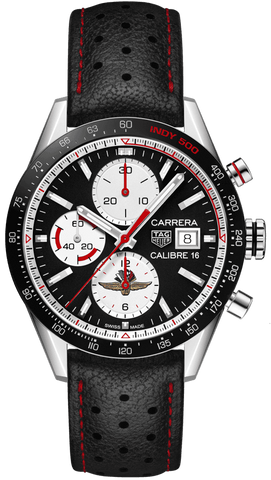 TAG Heuer Watch Carrera Calibre 16 Chronograph Indy 500 Limited Edition