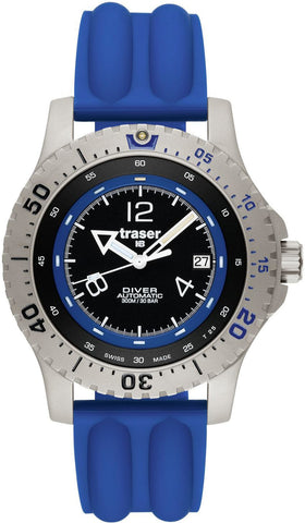 Traser H3 Diver Automatic Blue Silicon
