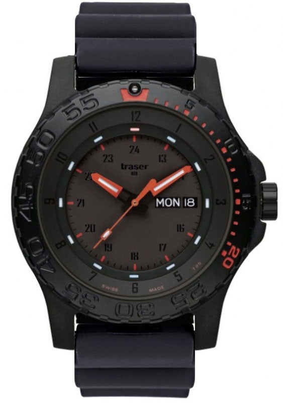 Traser H3 Watch P 6600 Red Combat Rubber