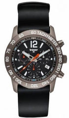 Traser H3 Watch Classic Chrono Titan Blue Silicon