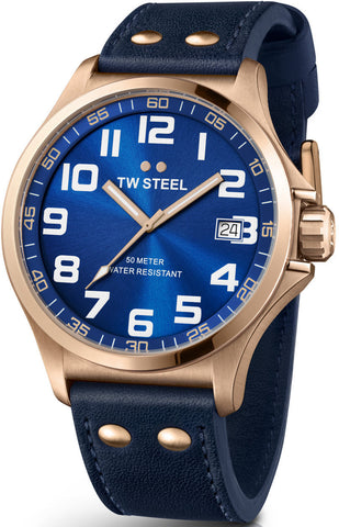 TW Steel Watch Pilot Rose Gold PVD 45mm