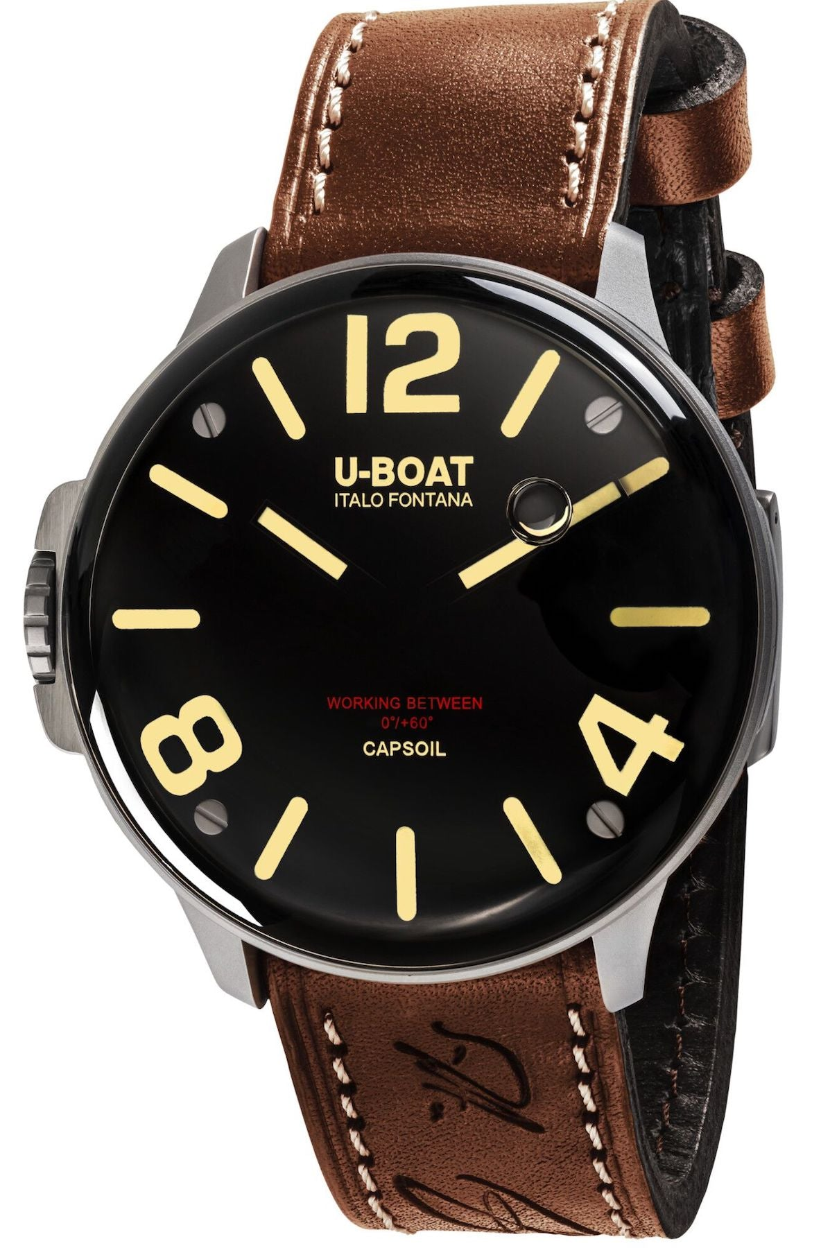 U-Boat Watch Capsoil SS Leather Strap D