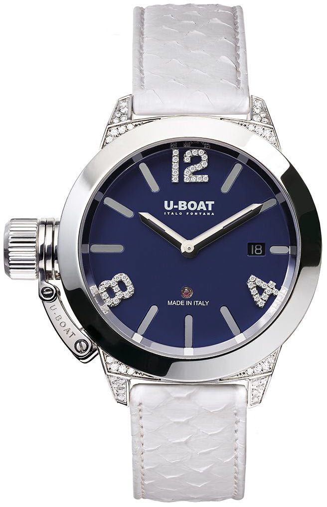 U-Boat Classico 40 SS Blu White Diamonds