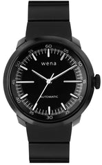 Wena Watch Wrist Pro With Black Mechanical Three Hands Face