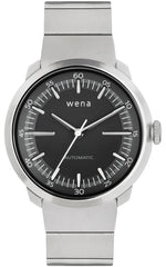 Wena Watch Wrist Pro With Silver Mechanical Three Hands Face