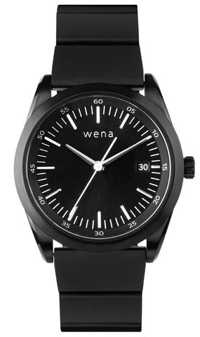 Wena Watch Wrist Pro With Black Solar Three Hands Face