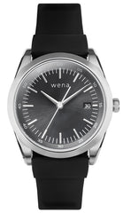 Wena Watch Wrist Active With Silver Solar Three Hands Face