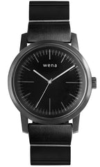 Wena Watch Wrist Pro With Black Quartz Three Hands Face