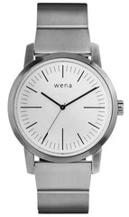 Wena Watch Wrist Pro With White Quartz Three Hands Face