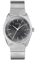 Wena Watch Wrist Pro With Silver Solar Three Hands Face