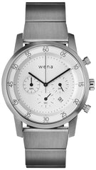 Wena Watch Wrist Pro With White Quartz Chronograph Face