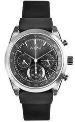 Wena Watch Wrist Active With Silver Solar Chronograph Face