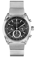 Wena Watch Wrist Pro With Silver Solar Chronograph Face