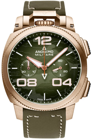 Anonimo Watch Militare Alpina Camouflage Green Limited Edition