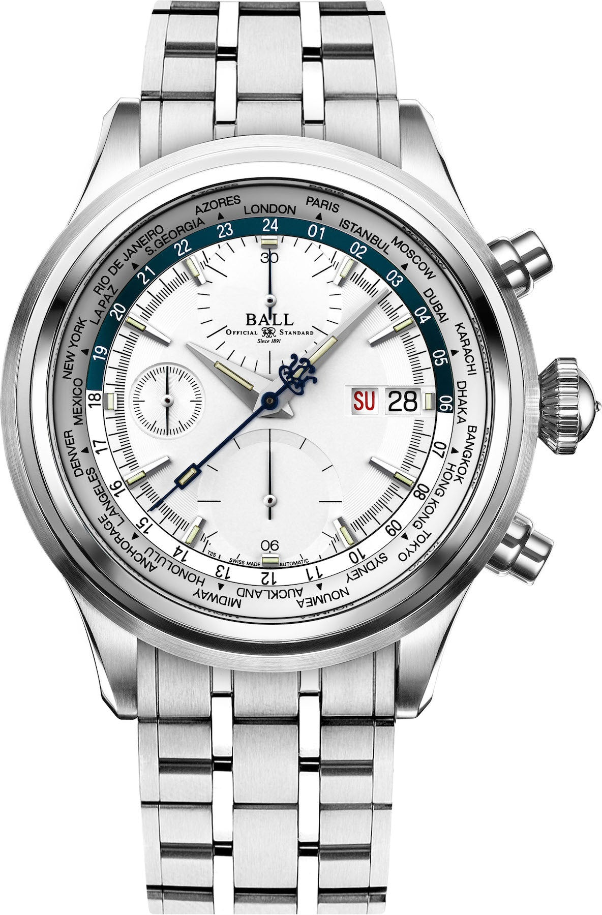 Ball Watch Company Trainmaster Worldtime Chronograph Pre-Order
