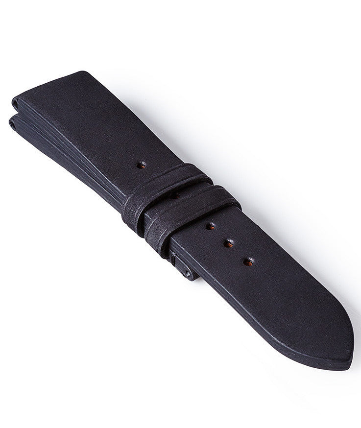 Bremont Leather Strap Vintage Black 22mm Regular