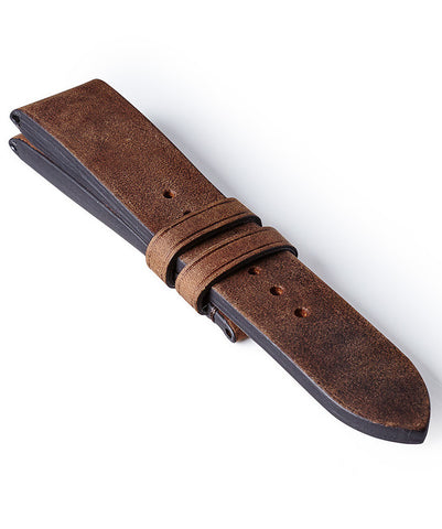 Bremont Leather Strap Vintage Dark Brown 22mm Regular