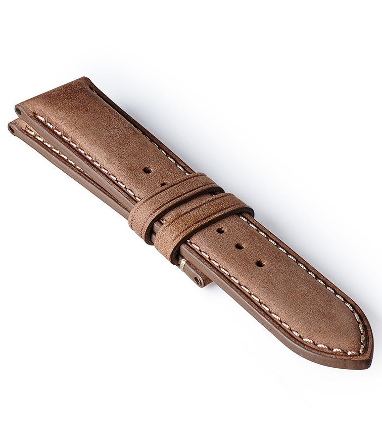 Bremont Leather Strap Nubuck Light Brown-White 22mm Regular