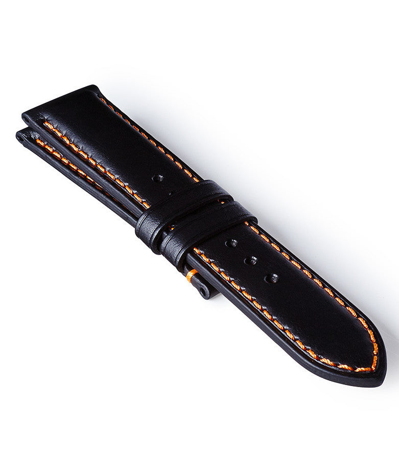 Bremont Leather Strap Black-Orange 22mm Regular