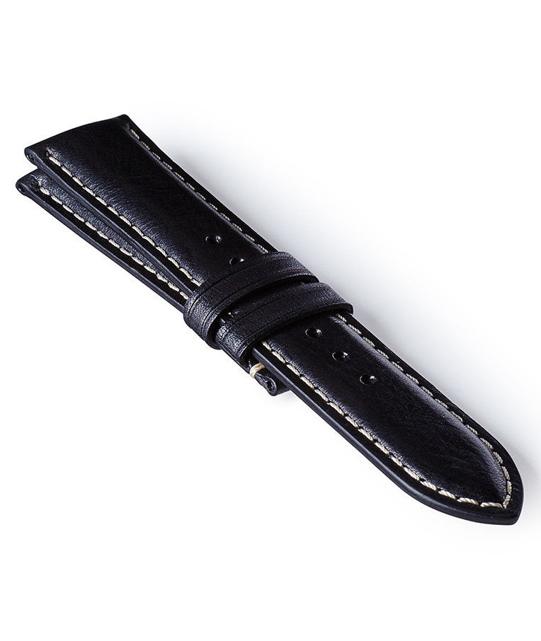 Bremont Leather Strap Black-White 22mm Regular