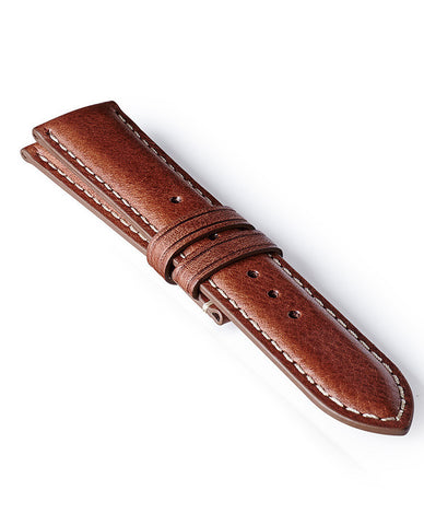 Bremont Leather Strap Brown-White 22mm Regular