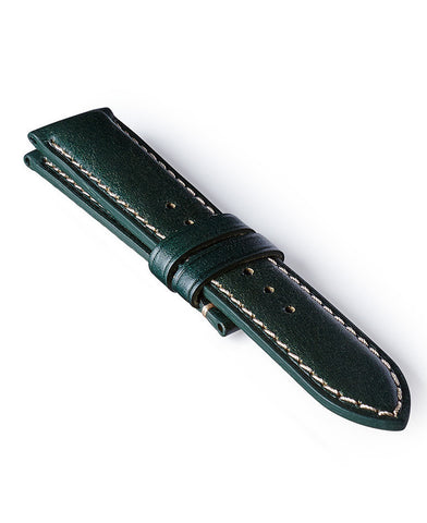 Bremont Leather Strap Green-White 22mm Regular