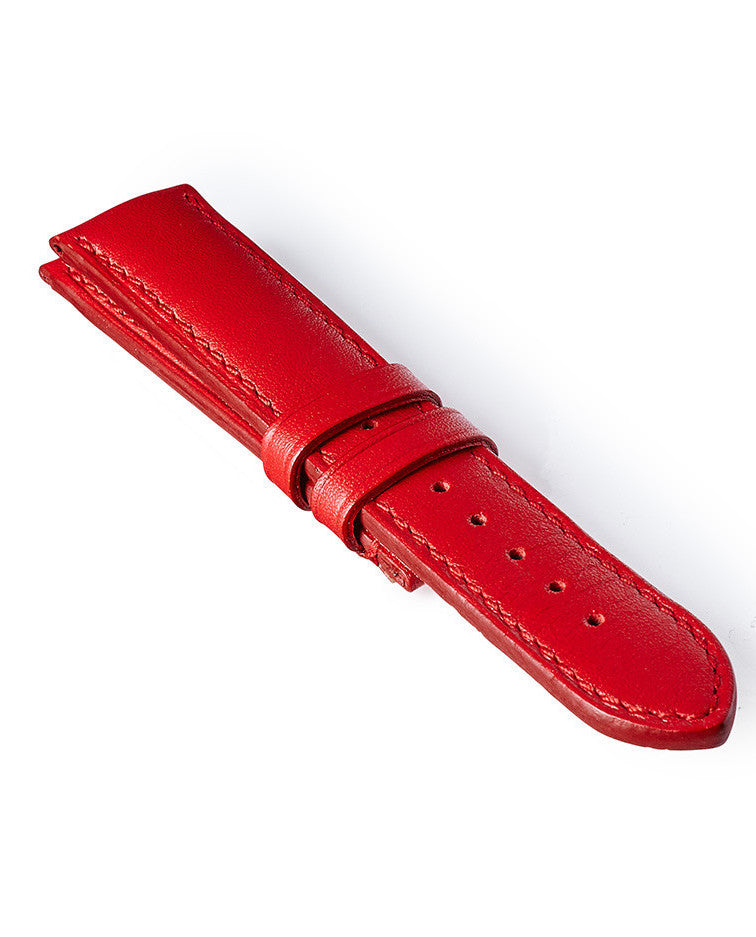 Bremont Leather Strap Red-Red 22mm Regular