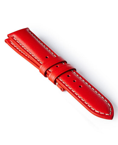 Bremont Leather Strap Red-White 22mm Regular