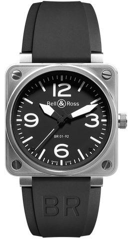Bell & Ross Watch BR 01 92 Automatic Black Dial Steel Case