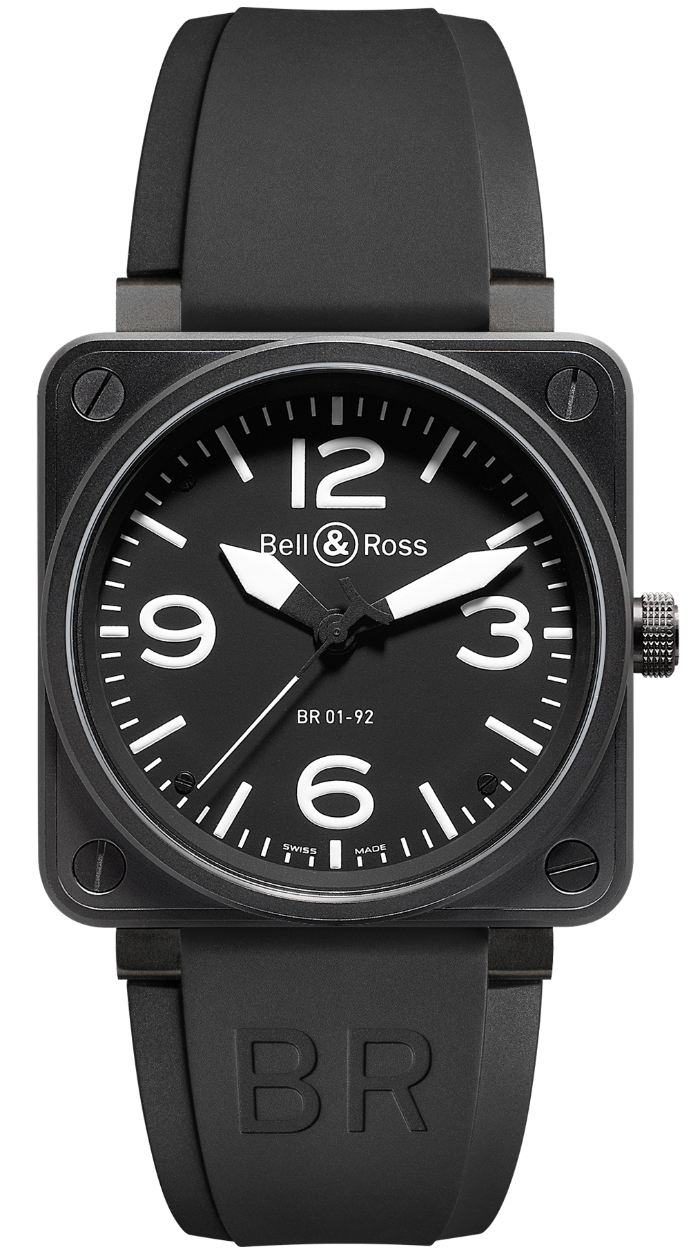 bell ross watch br 01 92 automatic black dial carbon. Black Bedroom Furniture Sets. Home Design Ideas