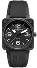 Bell & Ross Watch BR 01 92 Automatic Black Dial Carbon Finish BR0192-BL-CA
