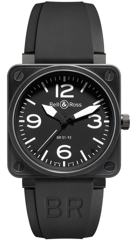 Bell & Ross Watch BR 01 92 Automatic Black Dial Carbon Finish