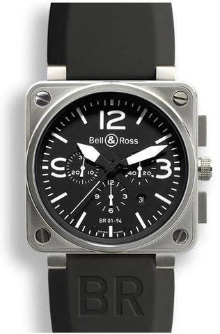 Bell & Ross BR 01 94 Chronograph Black Dial Steel Case