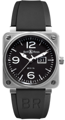 Bell & Ross Watch BR 01 96 Black Dial Steel Case