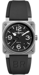 Bell & Ross Watch BR 03 92 Automatic Black Dial Steel Case BR0392-BL-ST