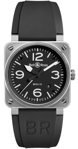 Bell & Ross Watch BR 03 92 Automatic Black Dial Steel Case